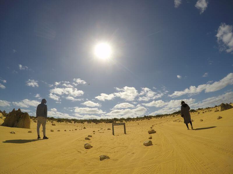 西澳伯斯尖峰石陣示意圖
